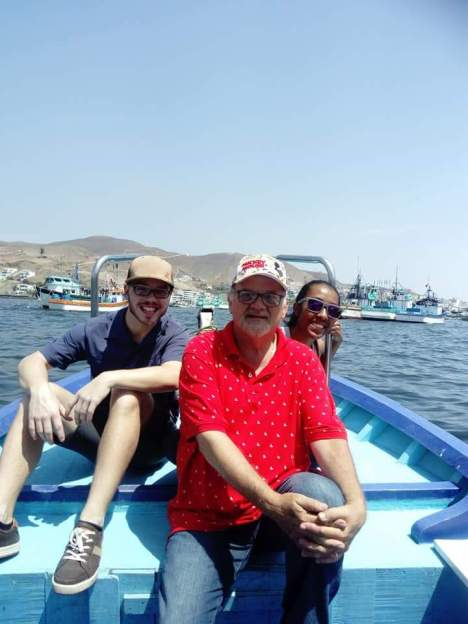 Spending time with John on a boat ride in Pucasana